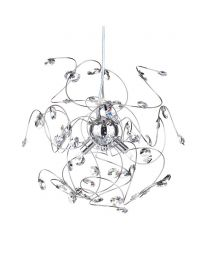 Othello Pendant with Clear Glass, Chrome