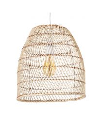 Rattan Tall Dome Easyfit Shade, Bleached Natural