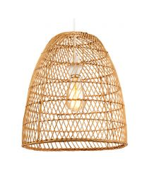 Rattan Tall Dome Easyfit Shade, Natural