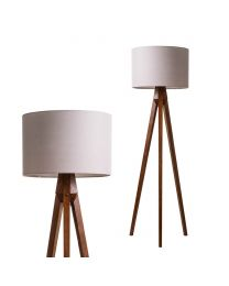 Scott Tripod Floor Lamp, Dark Brown close up