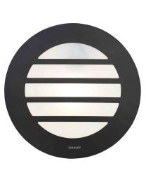 Stanley Tahoe Outdoor Circular Wall or Ceiling Light with Slats - Black