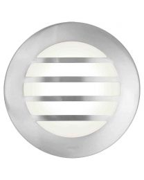Stanley Tahoe Outdoor Circular Wall or Ceiling Light with Slats - Steel