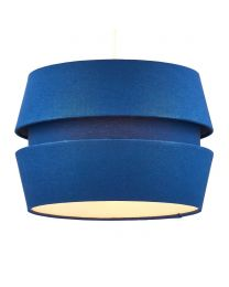 Three Layer Linen Easyfit Shade, Navy lit on white