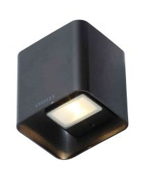 Stanley Tronto Outdoor LED Square Up & Down Wall Light - Black