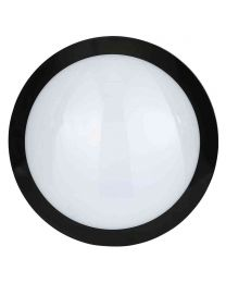 Stanley Verese IP66 Outdoor LED Flush Ceiling or Wall Light with Sensor - Black