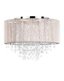 Viola Flush Ceiling Light, Champagne