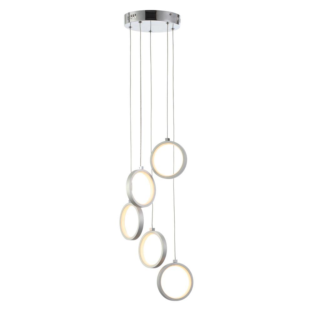 Orion LED Cluster Pendant, Silver