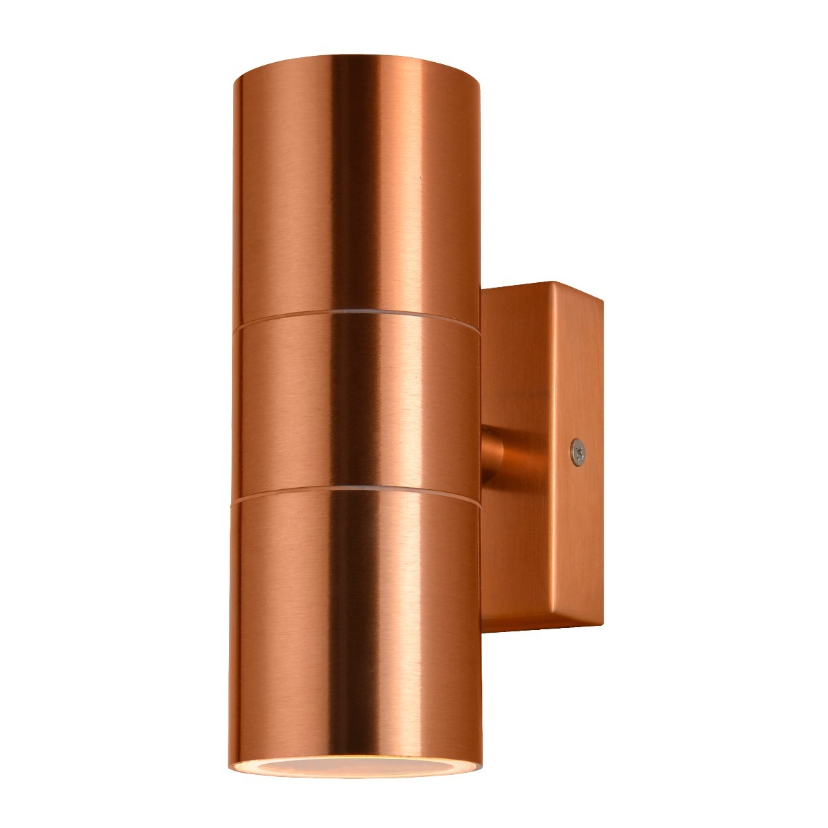 Jared Outdoor Up and Down Wall Light in Copper