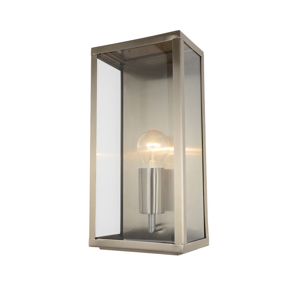 Stratus Outdoor Wall Lantern Light in Stainless Steel