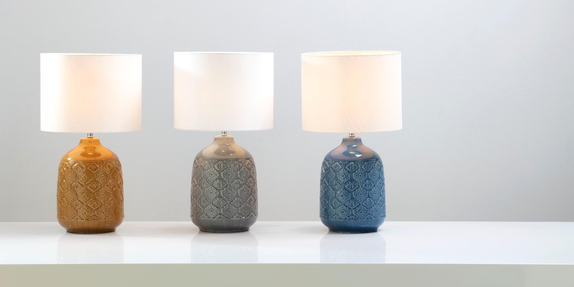 Cosgrove Patterned Ceramic Table Lamp