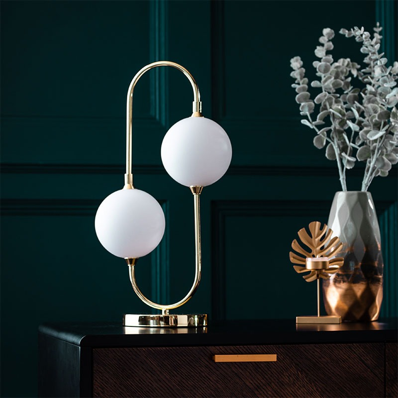 Beryl LED Table Lamp in Brass