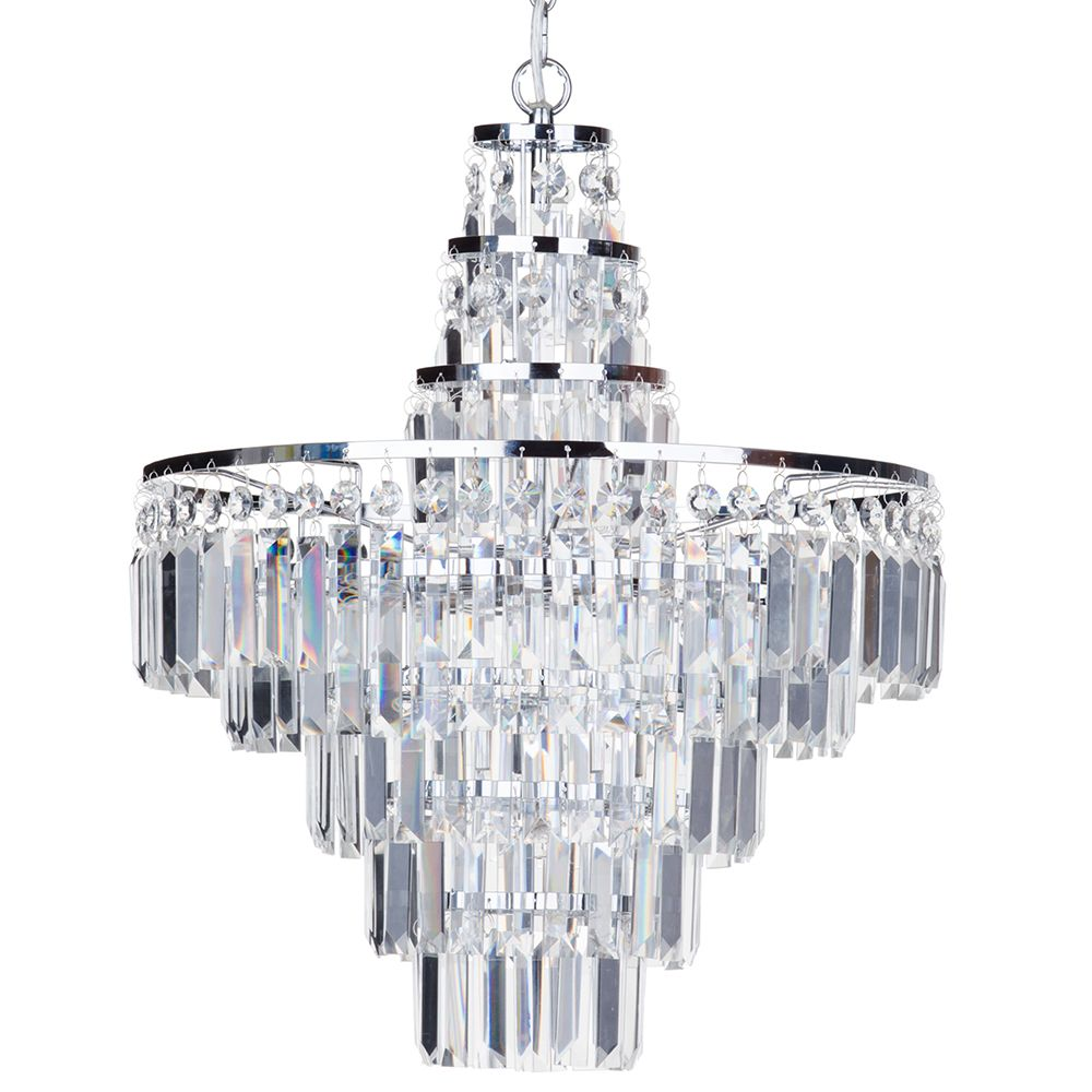 Aurora Crystal Bar Chandelier