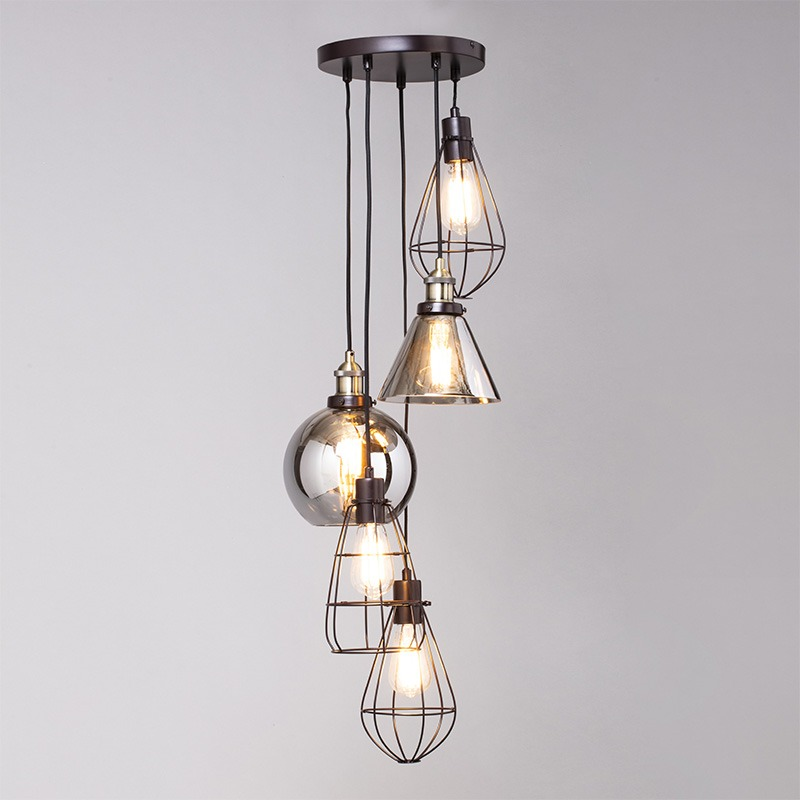 Carter Cage Cluster Pendant in Bronze