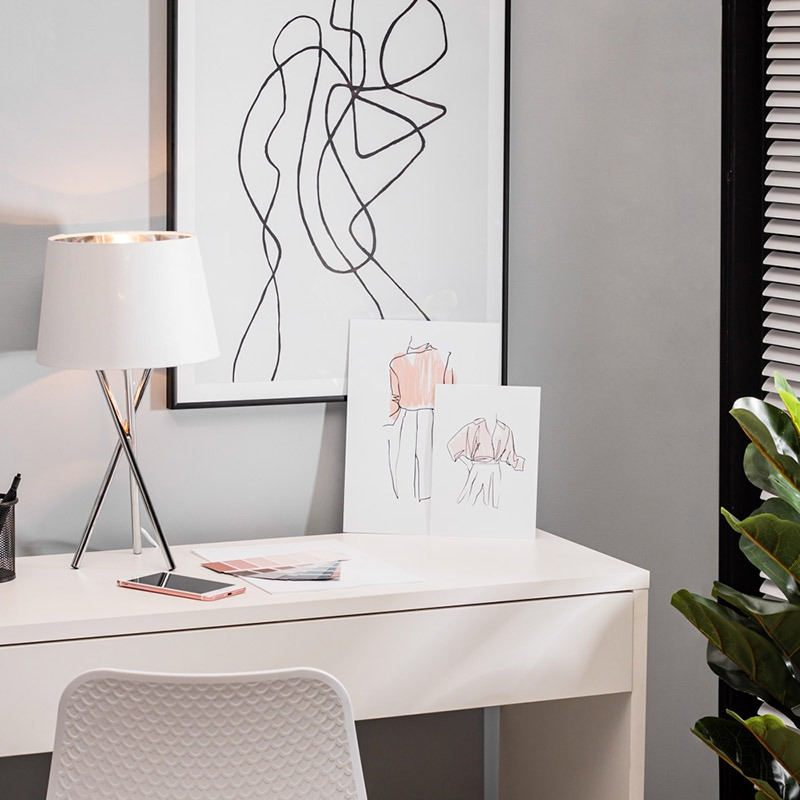 Drey Table Lamp in Chrome