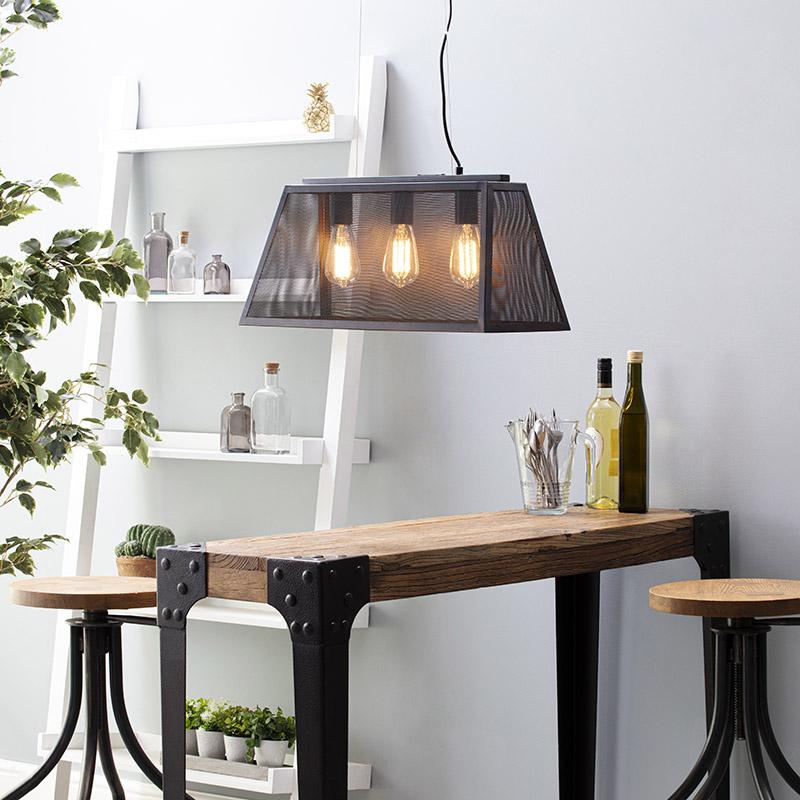 Mesh Bar Diner Pendant Light