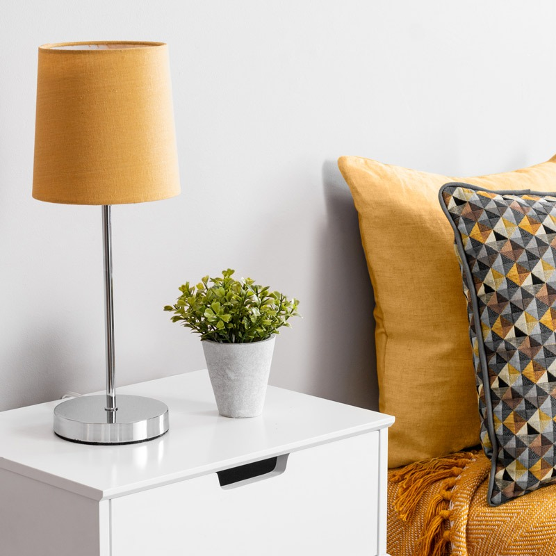 Ochre Touch Stick Table Lamp
